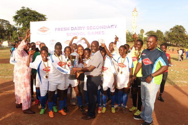 Kawempe Muslim SS were crowned Fresh Dairy-Kampala region secondary schools Girls football champions on Thursday