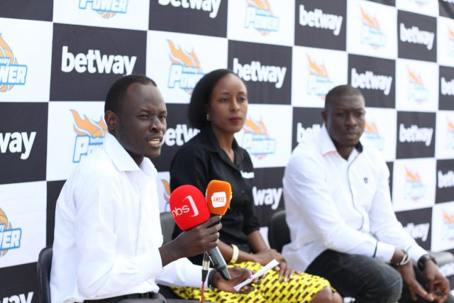 Betway Power head coach Anorld Lando (L) during the season launch