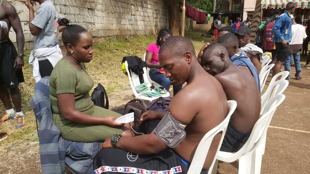 Boxers undergo medical examination