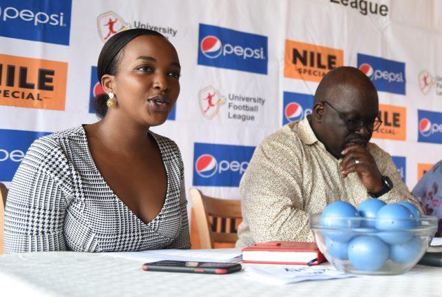 Kakuru and Kisenyi address the press conference yesterday at Katikati