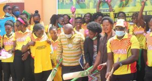 Lady Cricket Cranes Introduce The Game To Naguru Remand Home