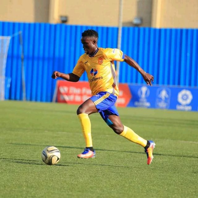 KCCA's Julius Poloto in action against Nyamityobora FC on Wednesday. (PHOTO/Courtesy)